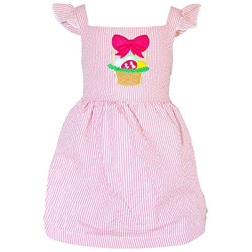 Unique Baby Girls Easter Basket Seersuck Dress (Easter Boutique)