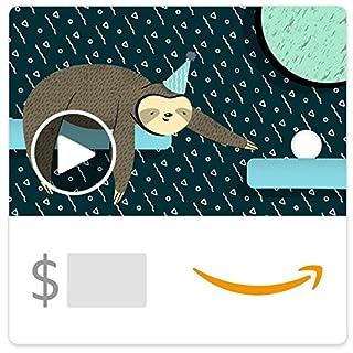 Amazon eGift Card - Birthday Sloth (Animated) (B07J4JGMD9) | Amazon price tracker / tracking, Amazon price history charts, Amazon price watches, Amazon price drop alerts