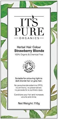Organic Pure Organics del tinte de pelo – it a base de plantas color del pelo rubio fresa