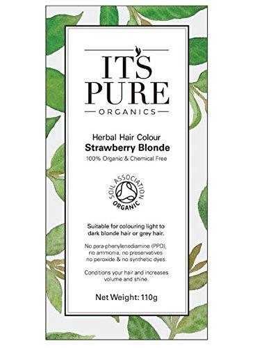 Organic Hair Dye - It's Pure Organics Herbal Hair Colour Strawberry Blonde