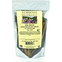 "Starwest Botanicals Organic 6"" Licorice Root Sticks, 4 Ounces"