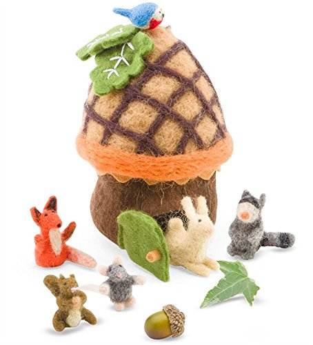 - Felt Woodland Animals with Acorn House