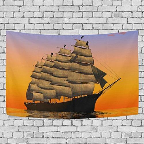 Sailboat Print Art Art Decoration, Bedroom Living Kids Girls