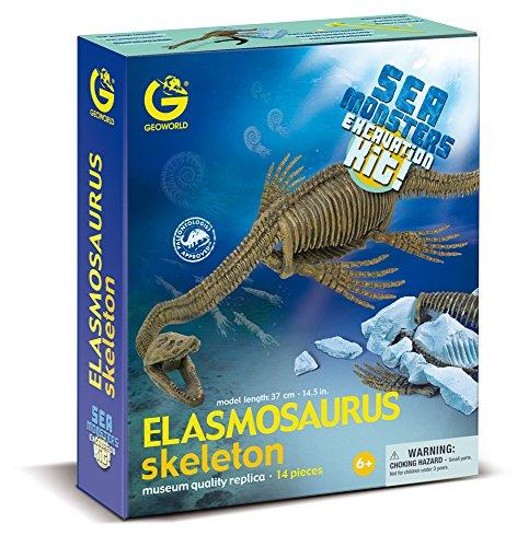 Geoworld Sea Monsters Elasmosaurus Skeleton Dino Dig Excavation Kit
