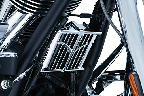 Kuryakyn Oil - Kuryakyn 5640 Motorcycle Engine Accent Accessory: Oil Cooler Cover for 2014-19 Indian Motorcycles, Chrome