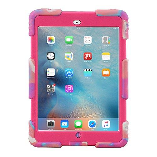 ACEGUARDER iPad Mini 1 2 3 Case Full Body Protective Premium Soft Silicone Cover Proof Case for iPad Mini 1 2 3 (Candy)