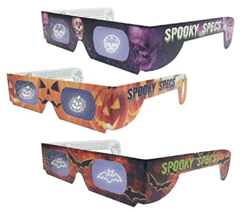 Spooky Specs Assortment - Bat, Pumpkin & Skull - Hologram Lenses