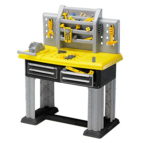 (American Plastic Toys 38-piece Deluxe Kids Workbench In Yellow Perfect For Your Little Builder, Great Gift For Kids)