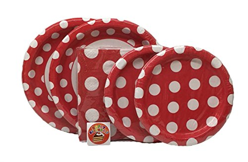 Red Polka Dot Party Kit - Birthday Party Supplies Set -