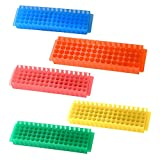 PUL FACTORY Polypropylene Microcentrifuge PCR Tube Rack, 80-Well,Assorted colors, Pack of 5