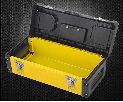 CHUNSHENN ツールボックス 工具箱 以下のために適した家庭用屋外修復ツールストレージボックス、多機能黄黒、サイズ36.5 * 18 * 17.5センチ(カラー:イエロー、ブラック、サイズ:36.5 * 18 * 17.5センチ)