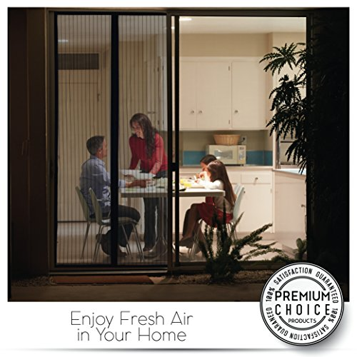 White Magnetic Screen Door - Keeps Bugs OUT, Lets Fresh Air In. No More Mosquitos or Flying Insects. Instant Bug Mesh with Top-to-Bottom Seal, Snaps Shut Like Magic for a Hands-Free Bug-Proof Curtain by Premium Choice Products (Image #8)
