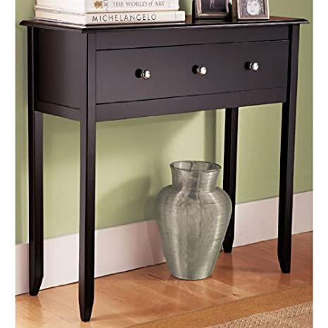 amazon black espresso contemporary console table furniture kitchen dining tables with drawers uk modern