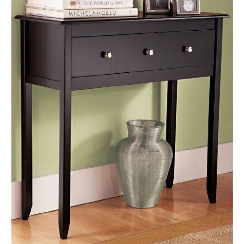 Amazon.com: Black Espresso Contemporary Console Table Furniture: Kitchen U0026  Dining