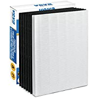 Premium True HEPA Filter with 6 Activated Carbon Pre Filters compatible with 115115 Size 21 Filter A and WX Air Purifier P300, 5300, 5500, 6300, C535 & 290, 300, DX95, AP-300PH by VEVA