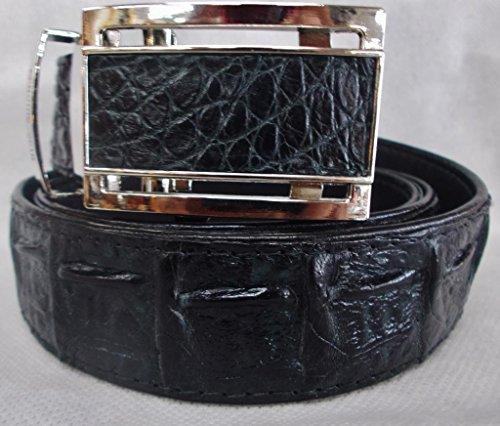 [Authentic Sefaro Crocodile Skin Men's Big Hornback Belt 40 Black] (Hornback Crocodile Belt)