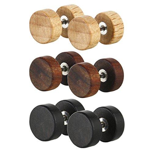 earrings fake plugs - 2