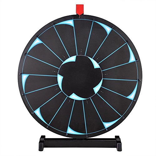 WinSpin™ 24' Tabletop Editable Prize Wheel 18 Slot Spinning Game with Dry Erase Tradeshow Carnival Black