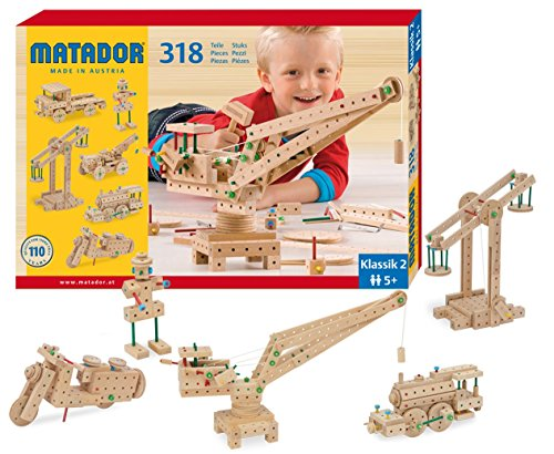 KSM Toys Matador 3-D Wooden Construction Set (Cog Wheel Train)