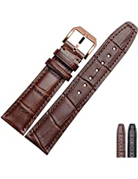 NESUN Calfskin Leather Watch Band Suitable For Men And Women Tissot Watch (20, Gold Brown)