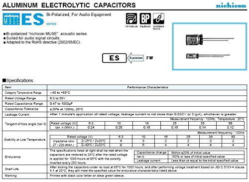 JAPAN 6PCS Nichicon BP 100uF 25V 100mfd MUSE  Audio Capacitor Caps