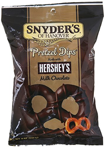 Snyder's Of Hanover Dipped in Hershey's Milk Chocolate Pretzel Dips, 6 Ounce