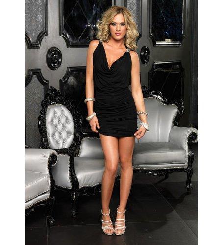 Amazon Leg Avenue Womens Spandex Mini Dress With Faux