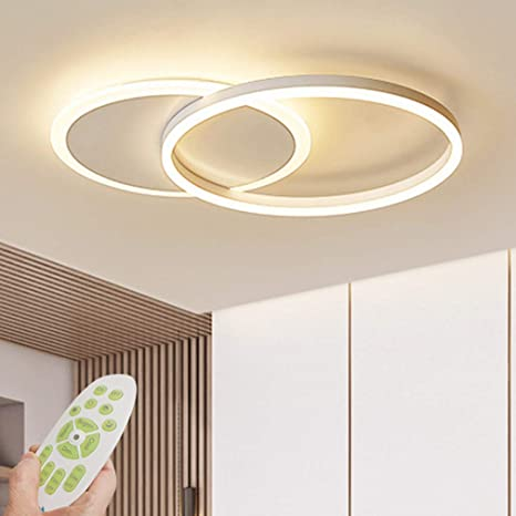 Rings Acrylic Modern Ceiling Light Dimmable LED Ceiling Chandelier with  Remote Control Living Room Lamp Dining Table Creative Design Ceiling  Lighting ...