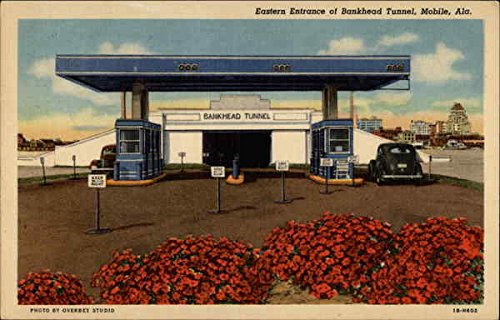 Eastern Entrance of Bankhead Tunnel Mobile, Alabama Original Vintage Postcard (Bankhead Tunnel Mobile)