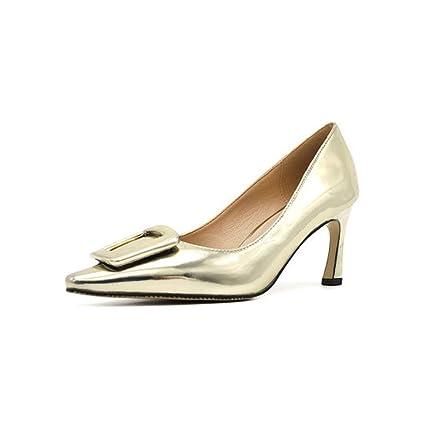 bastante agradable 58429 6dae9 GXYGWJ Zapatos de tacón Alto de Goma para Mujer de tacón ...