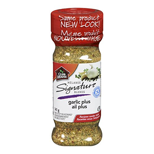 - Club House, Signature Blend, Garlic Plus, 141g/5oz. Seasoning, (Imported from Canada)
