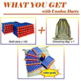 Coodoo Nerf Compatible Darts 100 PCS Refill Pack Bullets for Nerf N-Strike Elite Series Blasters Toy Gun - Blue with Storage Bag