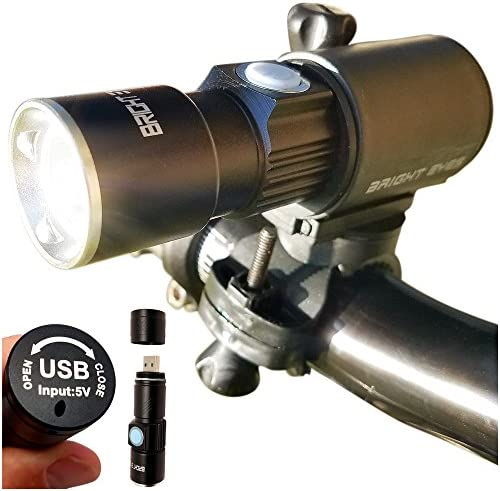 Bright Eyes 300 Lumen USB Rechargeable Water Resistant Bike Light – Headlight and Tail LED Set