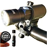Bright Eyes 300 Lumen USB Rechargeable Water resistant Bike Light – Headlight and Tail LED Set For Sale
