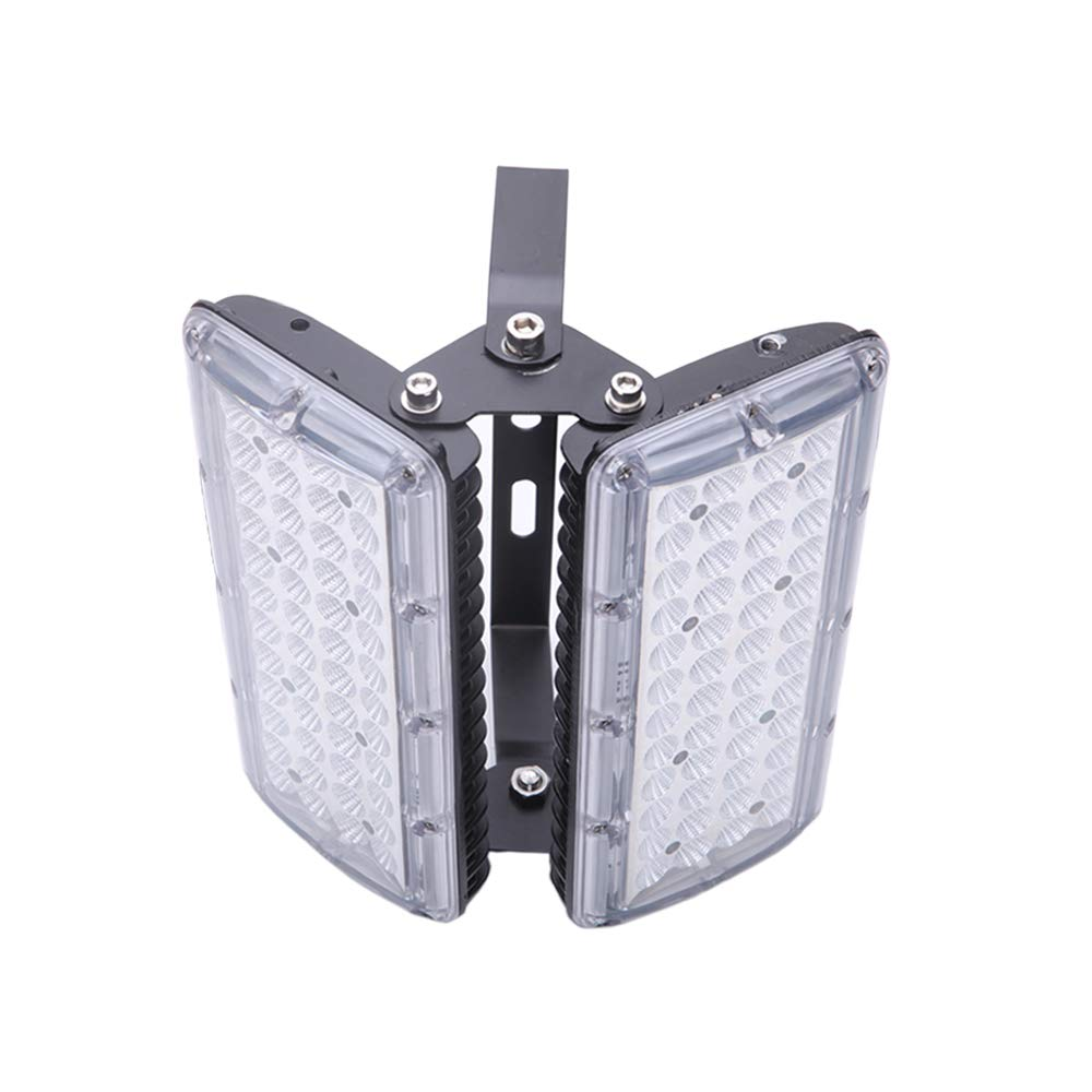 LED Security Flood Lights Outdoor - Super Bright Flood Light Fixtures 2 Heads 100W Waterproof IP67 6000K Daylight, 1000W Halogen Bulb Equivalent for Garden, Landscape, Working Flood lamp,by Brightfour
