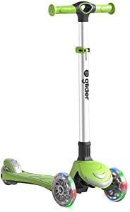 Yvolution Y Glider Kick & Roll | 3 Wheeled Scooter for Kids with LED Wheels for Kids Aged 3+
