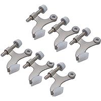 6 Pack Hinge Pin Satin Nickel Door Stopper