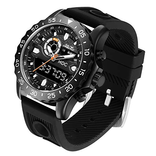 Big Face Military Tactical Watch for Men, Mens Outdoor Sport Wrist Watch, Large Analog Digital Watch - Dual Display… 2