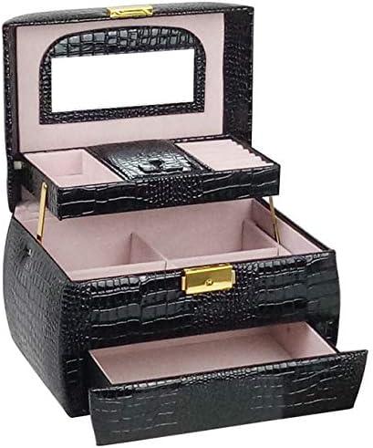 LFF.FF Estuche cosmético, Estuche de joyería Multicapa PU - Estuche de cosméticos - Estuche cosmético portátil - Bolsa de cosméticos de Gran Capacidad (22.5 * 16 * 13.5): Amazon.es: Deportes y aire libre