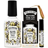 Poo-Pourri Before-You-Go Toilet Spray Set, 3 Piece Bathroom Deodorizer Includes 2-Ounce Original Scent In Gold Ornament Box , 4 -Ounce Original Scent, and Original Tester