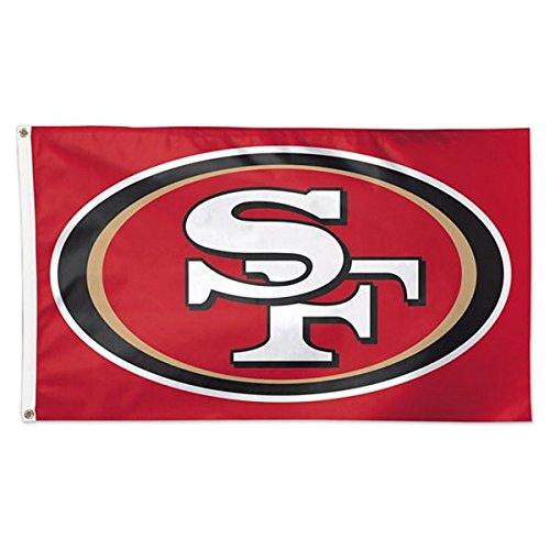 WinCraft NFL San Francisco 49ers 01824115 Deluxe Flag, 3' x - Francisco San 49ers Flag