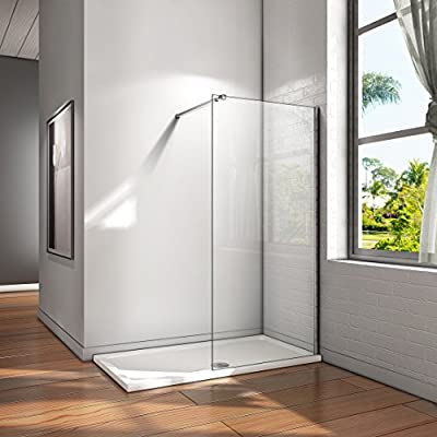 Mampara ducha Panel Pantalla Fija cristal 8mm templado para baño ...