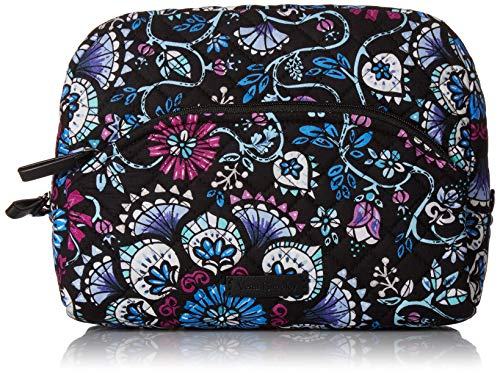 (Vera Bradley Iconic Large Cosmetic, Signature Cotton, Bramble)