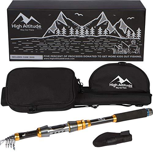 High Altitude Brands Lightweight Portable Telescopic Fishing Pole