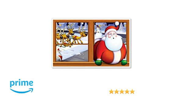 3-Feet 2-Inch by 5-Feet 2-Inch Beistle 1-Pack Snowy Christmas Insta View Sheet for Party Decorations