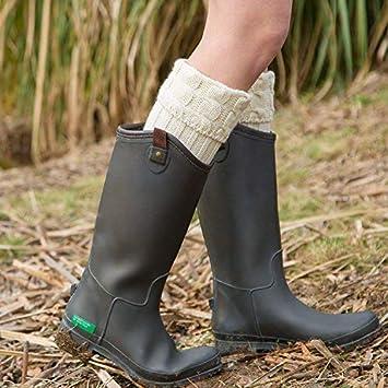 Calcetines hasta la rodilla de las mujeres Pata de lana con patas de paso, botas