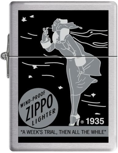 Zippo Lady Circa 1935 Brushed Chrome (brushed silver)