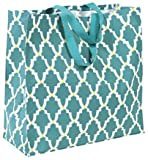Working Class Studio The Re-Gift Collection Lattice Large Gift Bag, Teal