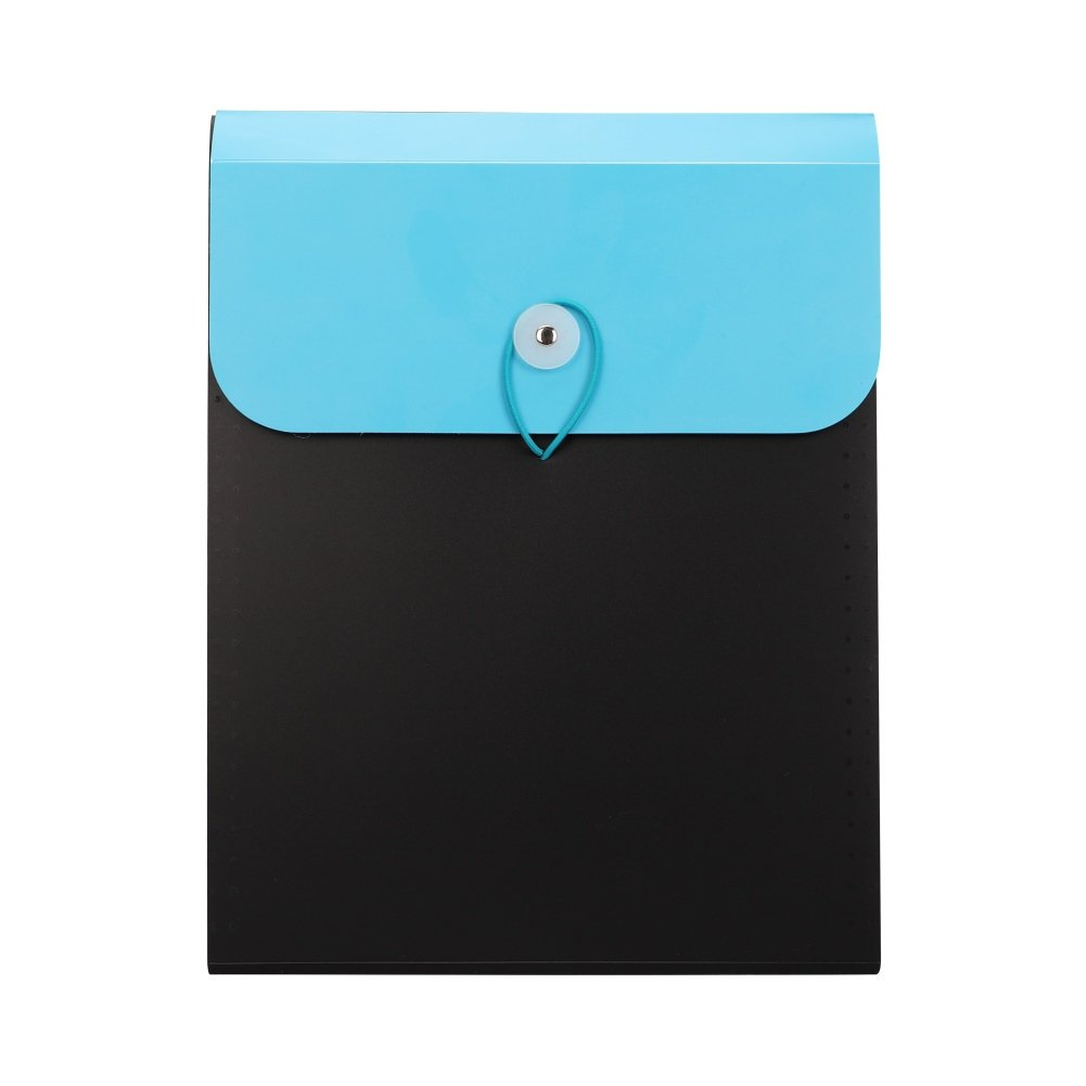 Office Expanding File Folder Documents Letter Size File Pouch with Top Memory Tab Assorted Colors Students Paper Tickets Organizer 13 Pack Vertical File Filing Holder with Fastener