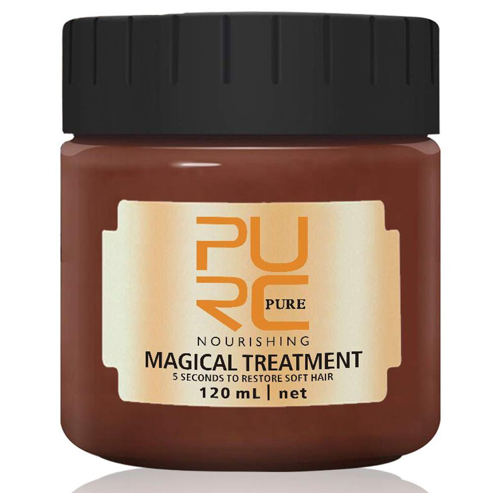 Magical Hair Mask 120ML,2019 PURC 5 Seconds Repairs Damage Hair Root Hair Tonic Keratin Hair & Scalp Treatment by QUNGCO